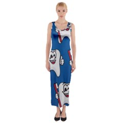 Tooth Fitted Maxi Dress