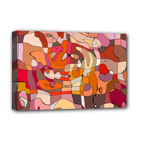 Abstract Abstraction Pattern Modern Deluxe Canvas 18  x 12
