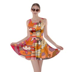 Abstract Abstraction Pattern Modern Skater Dress