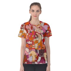 Abstract Abstraction Pattern Modern Women s Cotton Tee