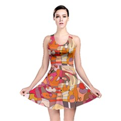 Abstract Abstraction Pattern Modern Reversible Skater Dress