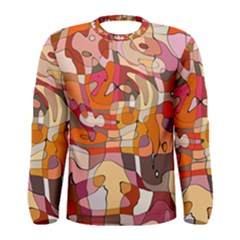 Abstract Abstraction Pattern Modern Men s Long Sleeve Tee