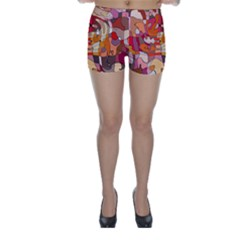 Abstract Abstraction Pattern Modern Skinny Shorts