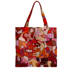 Abstract Abstraction Pattern Modern Zipper Grocery Tote Bag