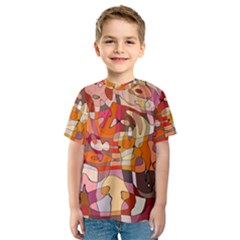 Abstract Abstraction Pattern Modern Kids  Sport Mesh Tee