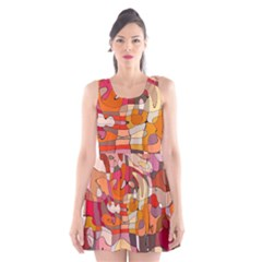 Abstract Abstraction Pattern Modern Scoop Neck Skater Dress