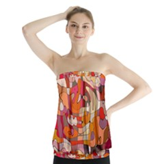 Abstract Abstraction Pattern Modern Strapless Top