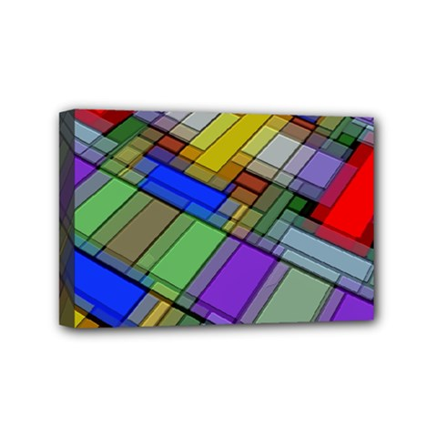 Abstract Background Pattern Mini Canvas 6  x 4