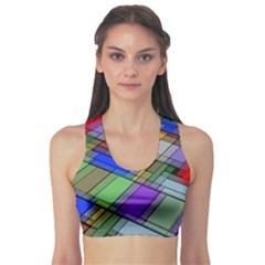 Abstract Background Pattern Sports Bra