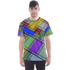 Abstract Background Pattern Men s Sport Mesh Tee