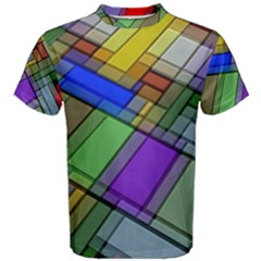 Abstract Background Pattern Men s Cotton Tee