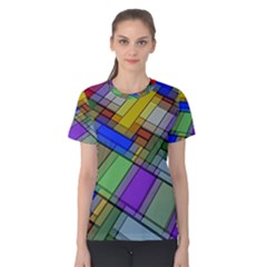 Abstract Background Pattern Women s Cotton Tee