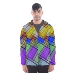 Abstract Background Pattern Hooded Wind Breaker (Men)