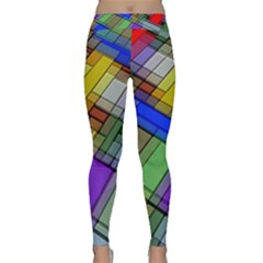 Abstract Background Pattern Classic Yoga Leggings