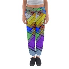 Abstract Background Pattern Women s Jogger Sweatpants