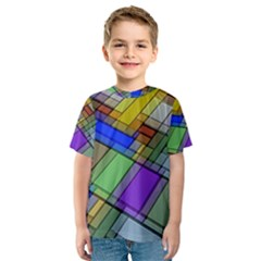 Abstract Background Pattern Kids  Sport Mesh Tee
