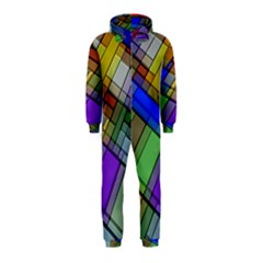 Abstract Background Pattern Hooded Jumpsuit (Kids)