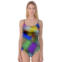 Abstract Background Pattern Camisole Leotard