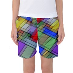 Abstract Background Pattern Women s Basketball Shorts