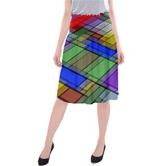 Abstract Background Pattern Midi Beach Skirt