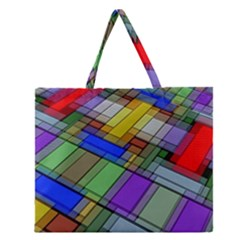 Abstract Background Pattern Zipper Large Tote Bag