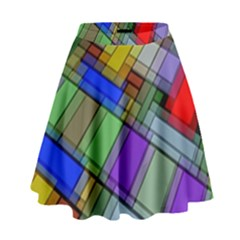Abstract Background Pattern High Waist Skirt