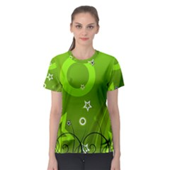 Art About Ball Abstract Colorful Women s Sport Mesh Tee
