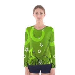 Art About Ball Abstract Colorful Women s Long Sleeve Tee
