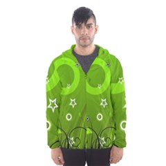 Art About Ball Abstract Colorful Hooded Wind Breaker (Men)