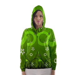 Art About Ball Abstract Colorful Hooded Wind Breaker (Women)