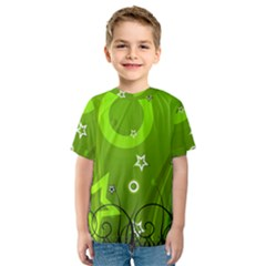 Art About Ball Abstract Colorful Kids  Sport Mesh Tee