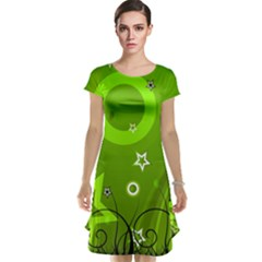 Art About Ball Abstract Colorful Cap Sleeve Nightdress
