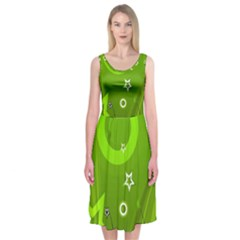 Art About Ball Abstract Colorful Midi Sleeveless Dress