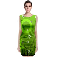 Art About Ball Abstract Colorful Classic Sleeveless Midi Dress