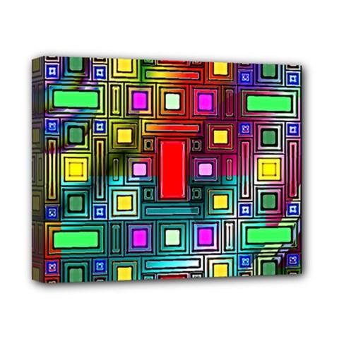 Art Rectangles Abstract Modern Art Canvas 10  x 8