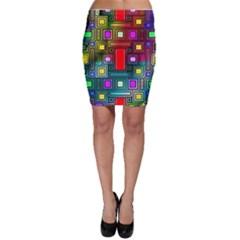 Art Rectangles Abstract Modern Art Bodycon Skirt