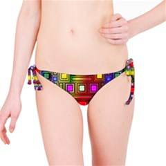 Art Rectangles Abstract Modern Art Bikini Bottom