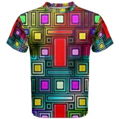 Art Rectangles Abstract Modern Art Men s Cotton Tee