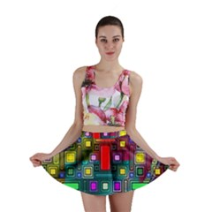 Art Rectangles Abstract Modern Art Mini Skirt