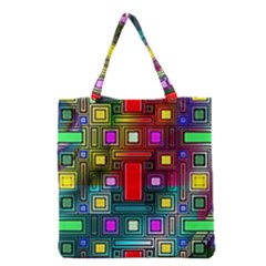 Art Rectangles Abstract Modern Art Grocery Tote Bag