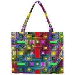 Art Rectangles Abstract Modern Art Mini Tote Bag