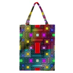 Art Rectangles Abstract Modern Art Classic Tote Bag