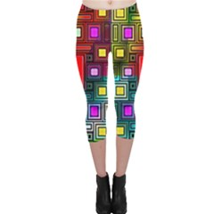 Art Rectangles Abstract Modern Art Capri Leggings