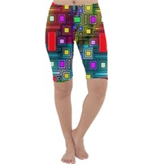 Art Rectangles Abstract Modern Art Cropped Leggings
