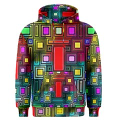 Art Rectangles Abstract Modern Art Men s Pullover Hoodie