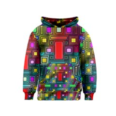 Art Rectangles Abstract Modern Art Kids  Pullover Hoodie