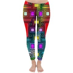 Art Rectangles Abstract Modern Art Classic Winter Leggings