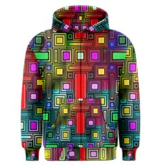 Art Rectangles Abstract Modern Art Men s Zipper Hoodie