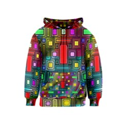 Art Rectangles Abstract Modern Art Kids  Zipper Hoodie