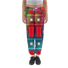 Art Rectangles Abstract Modern Art Women s Jogger Sweatpants